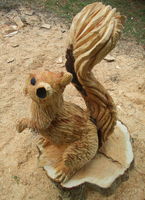 squirrel-carving